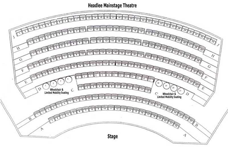 Headlee main stage theatre seating chart theatre in portland