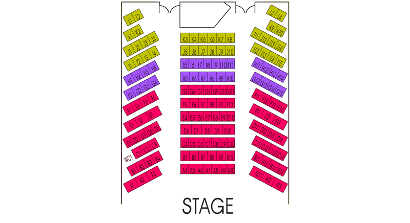 The Sanctuary Seating Chart